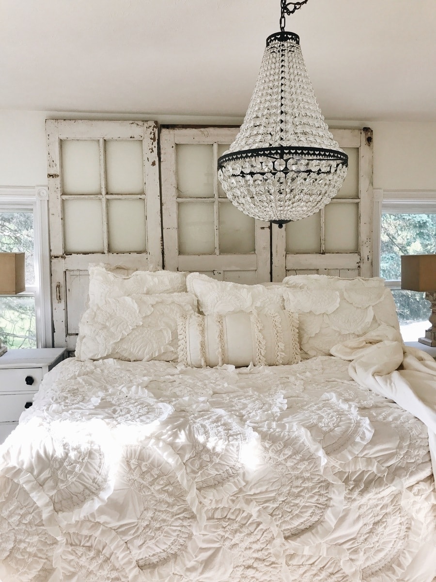 master bedroom makeover the chandelier
