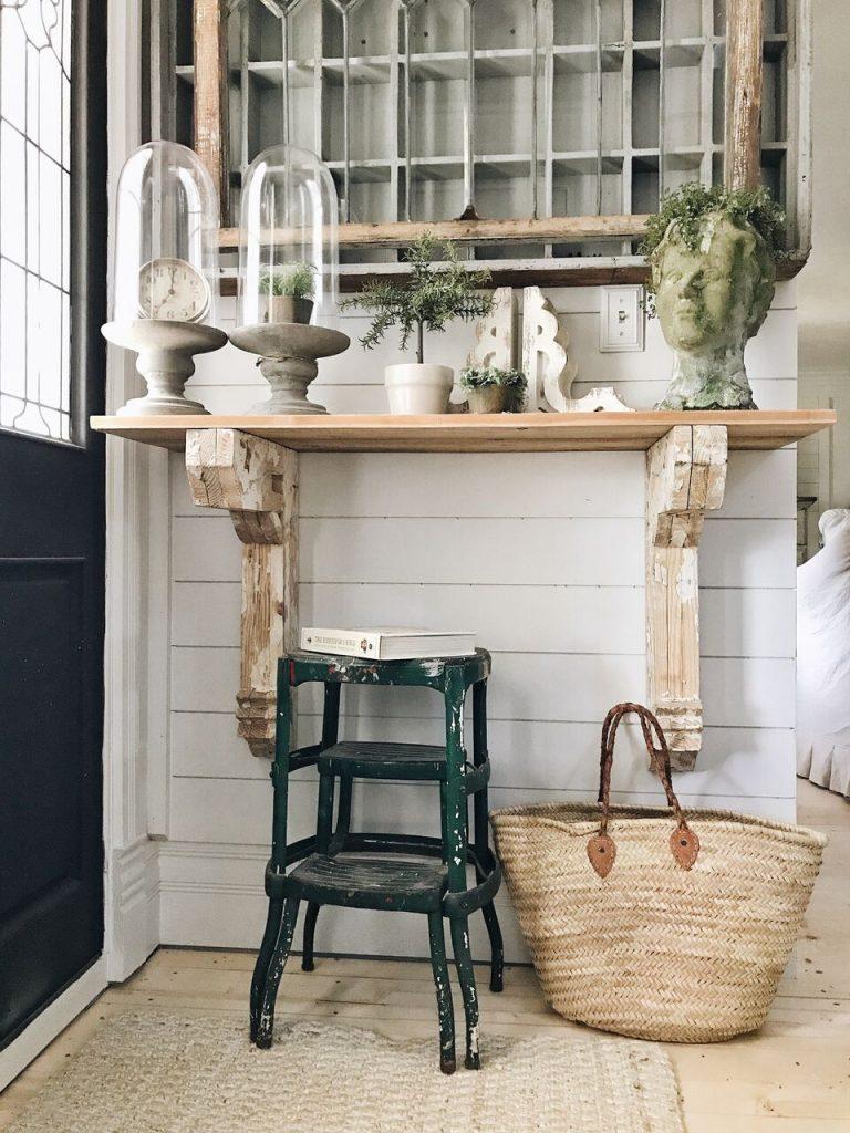 Diy Corbel Entryway Table Liz Marie Blog