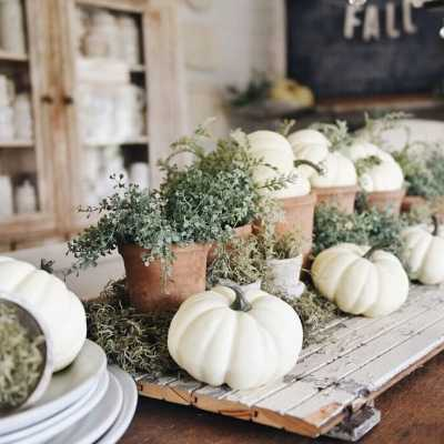 Rustic Garden Fall Dining Room Table