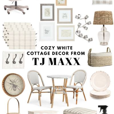 Cozy White Cottage Decor From TJ Maxx