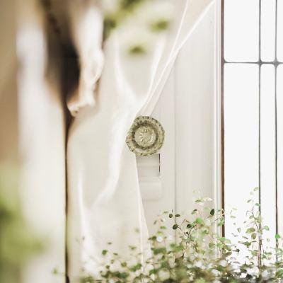 DIY Crystal Door knob Curtain Tieback