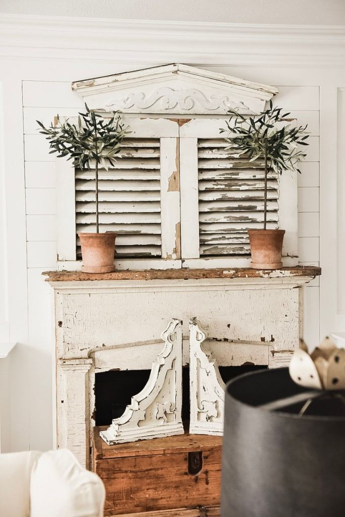 cottage style mantel