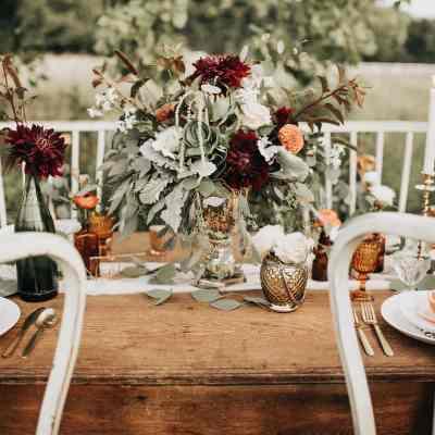 Fall Tablescape In The Field