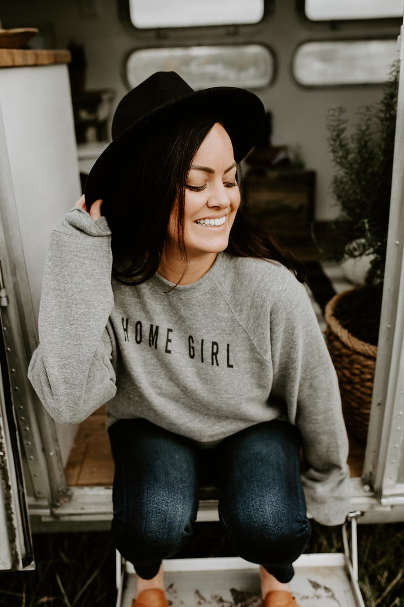 Cloth and Cabin Home Girl Sweatshirt