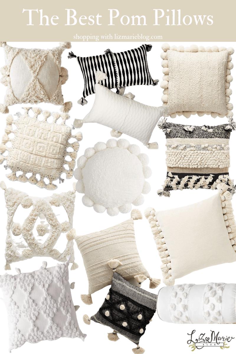 the best pom pillows liz marie blog