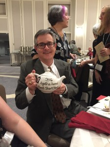 Art Taylor and Best Short Story teapot