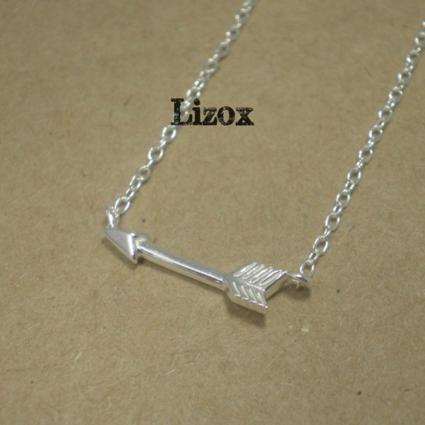 lizox-925-sterling-silver-arrow-necklace