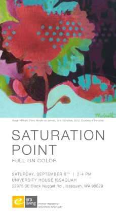 Saturation Point: a show curated by June Sekiguchi at University House Issaquah