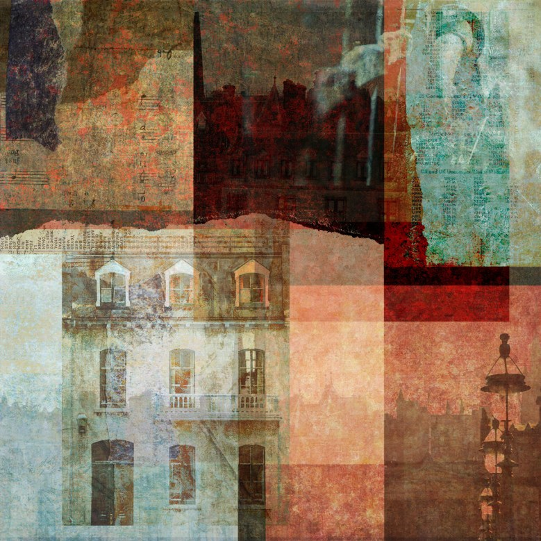 good as a mile: Digital collage by Liz Ruest, 101 layers