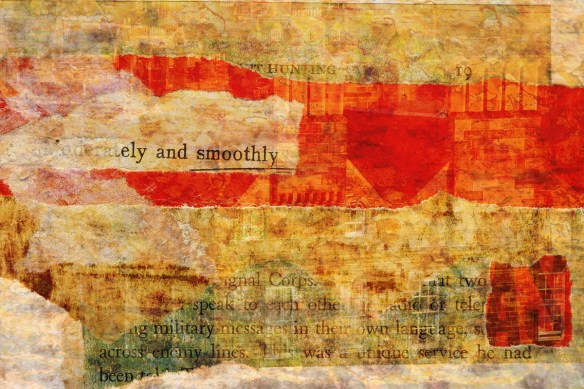 into the fire: Digital collage by Liz Ruest