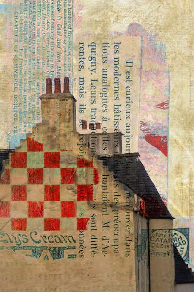 pence and the pound: Digital collage by Liz Ruest, 24 layers