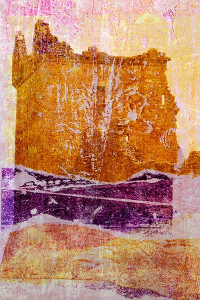 thicker than water: Digital collage by Liz Ruest, 12 layers