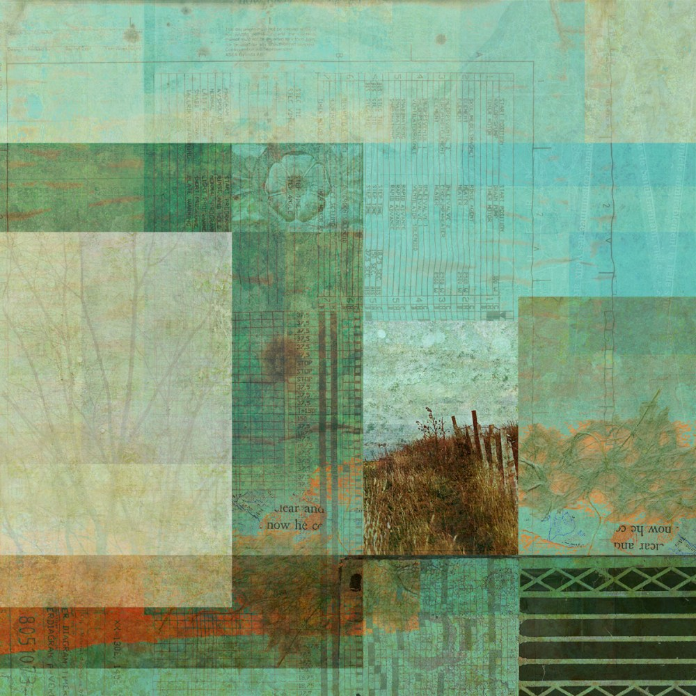 compounded by straggling: Digital collage by Liz Ruest, 60 layers