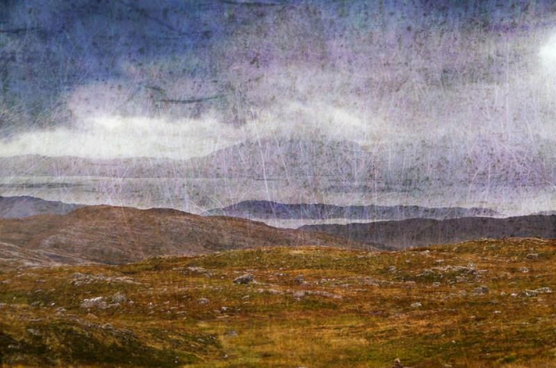 Applecross Pass: Digital collage, 15 layers © 2017 Liz Ruest