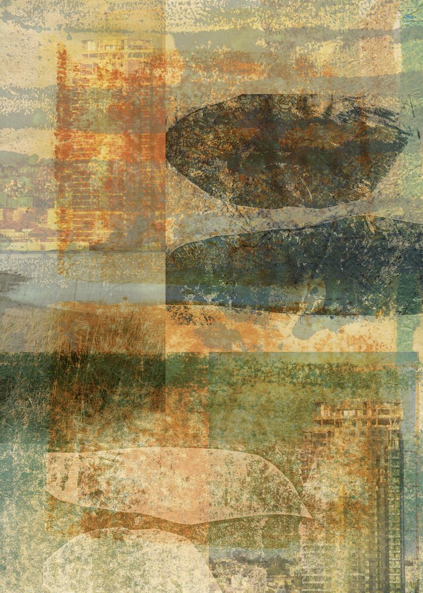behind my eyes: Digital collage © 2018 Liz Ruest, 14 layers