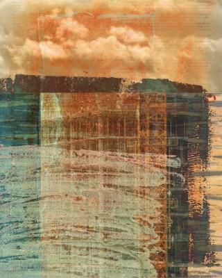 something hidden: Digital collage © 2018 Liz Ruest, 10 layers