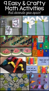 9 Easy and Crafty Math Activities