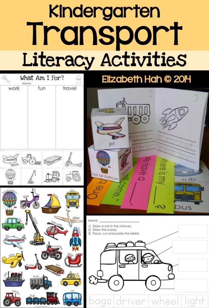 Kindergarten Transport Literacy Activities (Liz's Early Learning Spot)