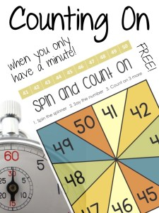 Counting On when you only have a Minute