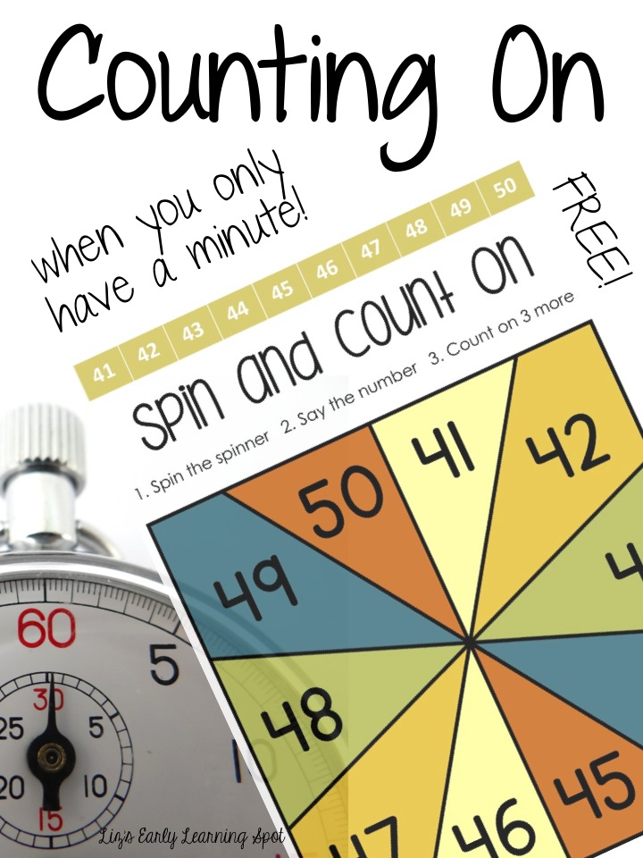 Counting On when you only have a Minute (Liz's Early Learning Spot)