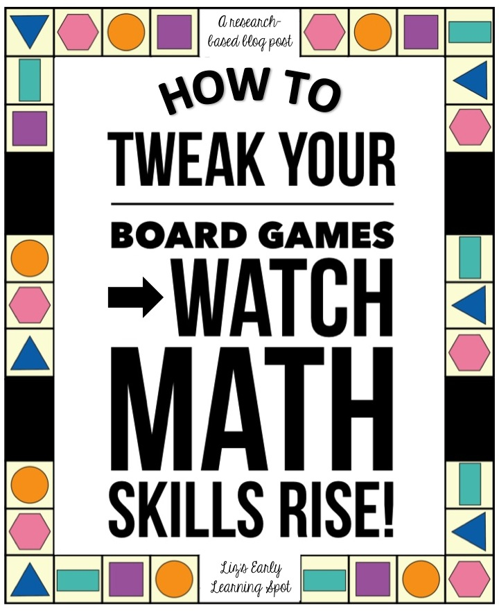 How to use Board Games to Maximise Math Skills - Liz\'s Early ...