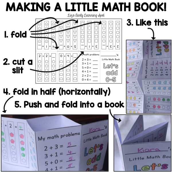 Have fun making these tiny math books