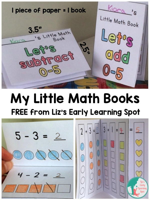 My Free Little Math Books - Liz's Early Learning Spot