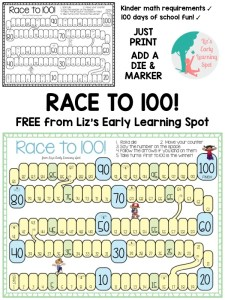 Race to 100 for 100 Days of School
