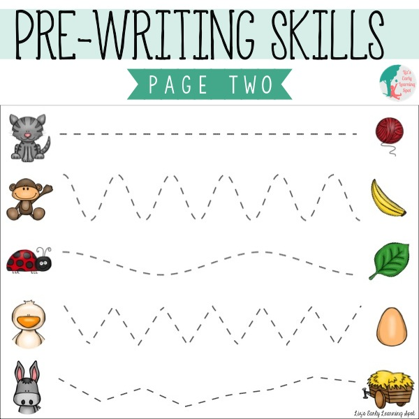 Essential Pre-Writing Skills: I Can Trace Lines - Liz's