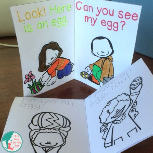 Free Easter readers and bookmarks for little learners!