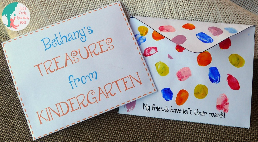 Easy envelopes for storing end of year messages