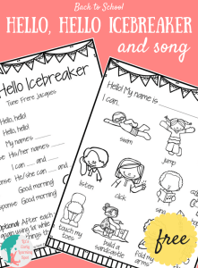 Back to School: Hello, Hello Icebreaker and Song