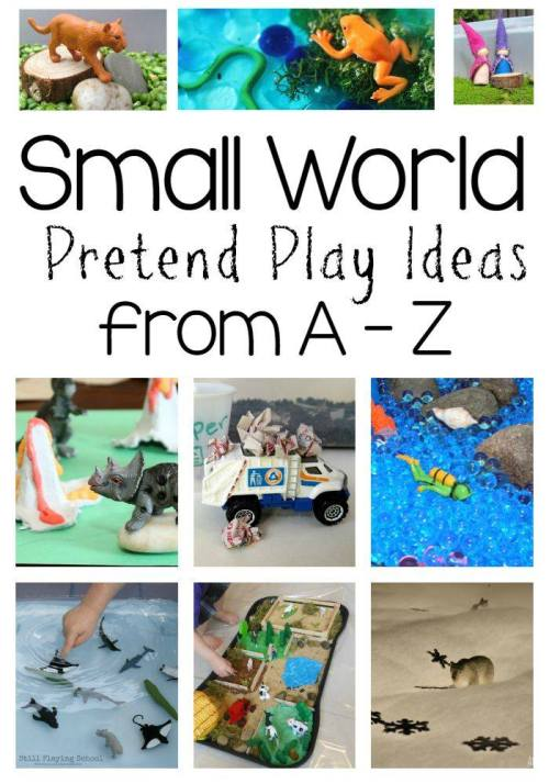 Find loads of small world play ideas for every letter of the alphabet!