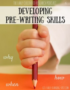 Developing Pre-Writing Skills: #2