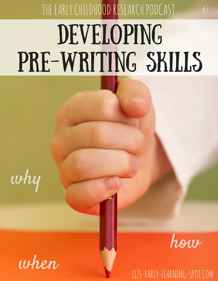 How do we develop pre-writing skills in our children to help them become successful writers?