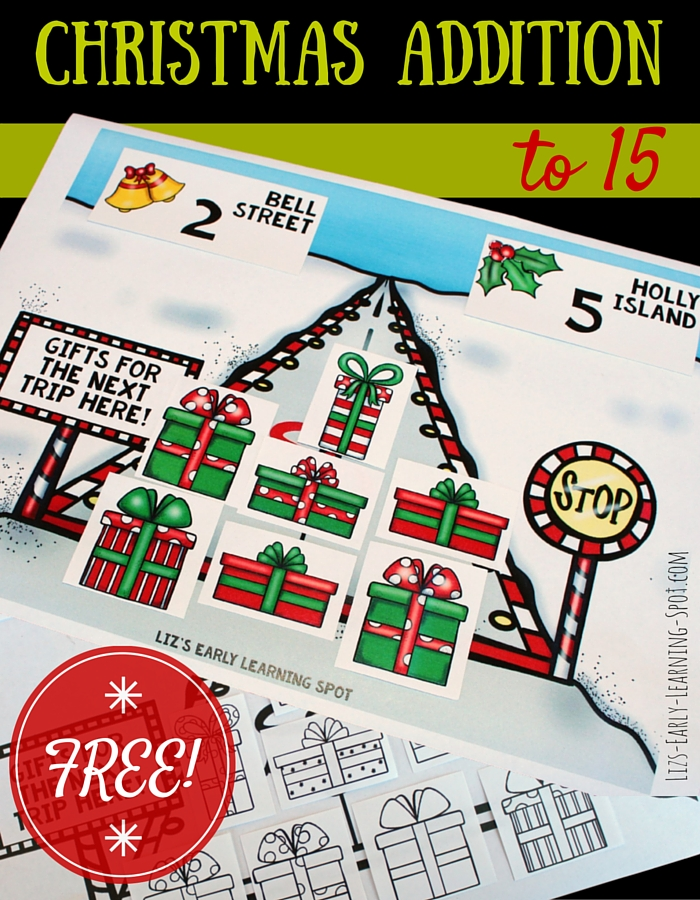 Help Santa by putting together the right number of gifts for his next delivery! A fun way to practice Christmas addition!