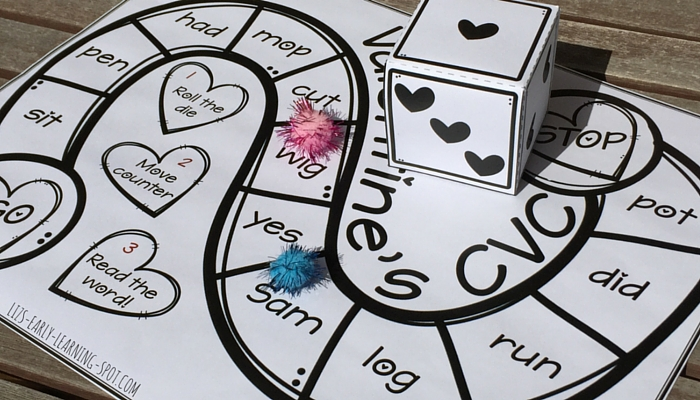 Enjoy this free reading Valentine's Day board game!