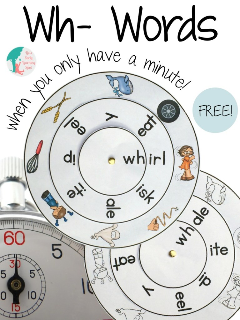 Grab your free Wh- digraph word wheel, you'll find links to ch-, sh- and th- as well. All free!