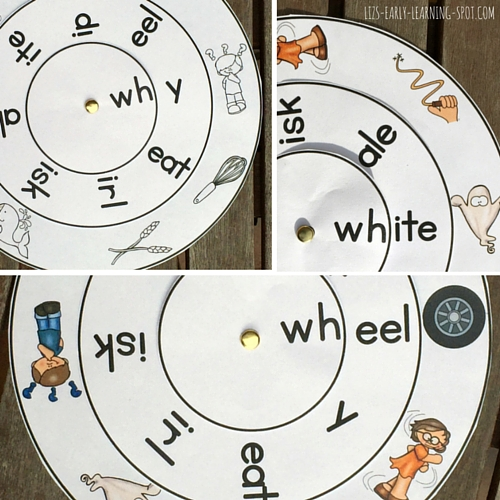 Free wh-, th-, ch- and sh- digraph word wheels to download!