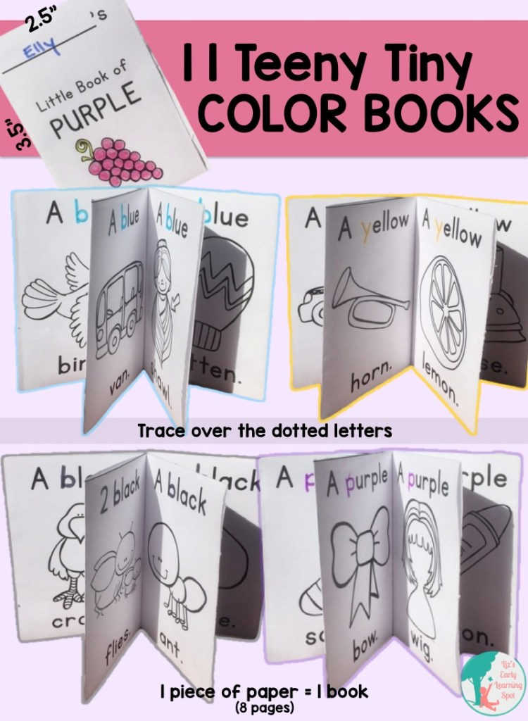 Sweet easy color readers for your little one!