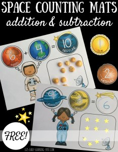 Space Counting Mats: Addition and Subtraction