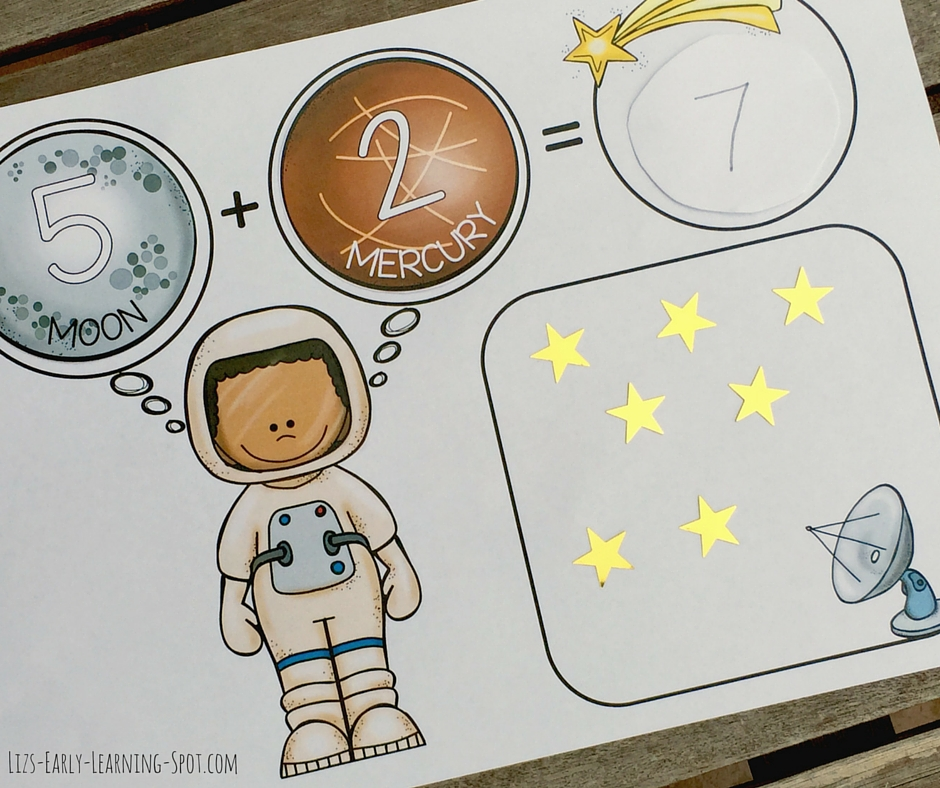 Here are some free space counting mats for you to download for addition and subtraction.