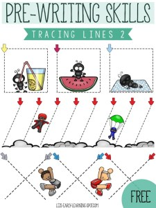 Pre-Writing Skills: Tracing Lines