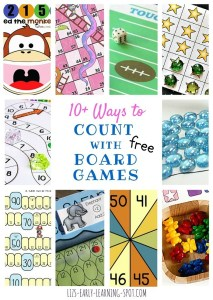 10 Ways to Count with Board Games: Printable and DIY