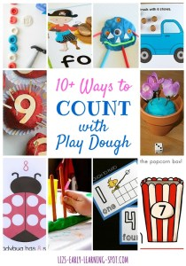 10 Ways to Count with Play Dough