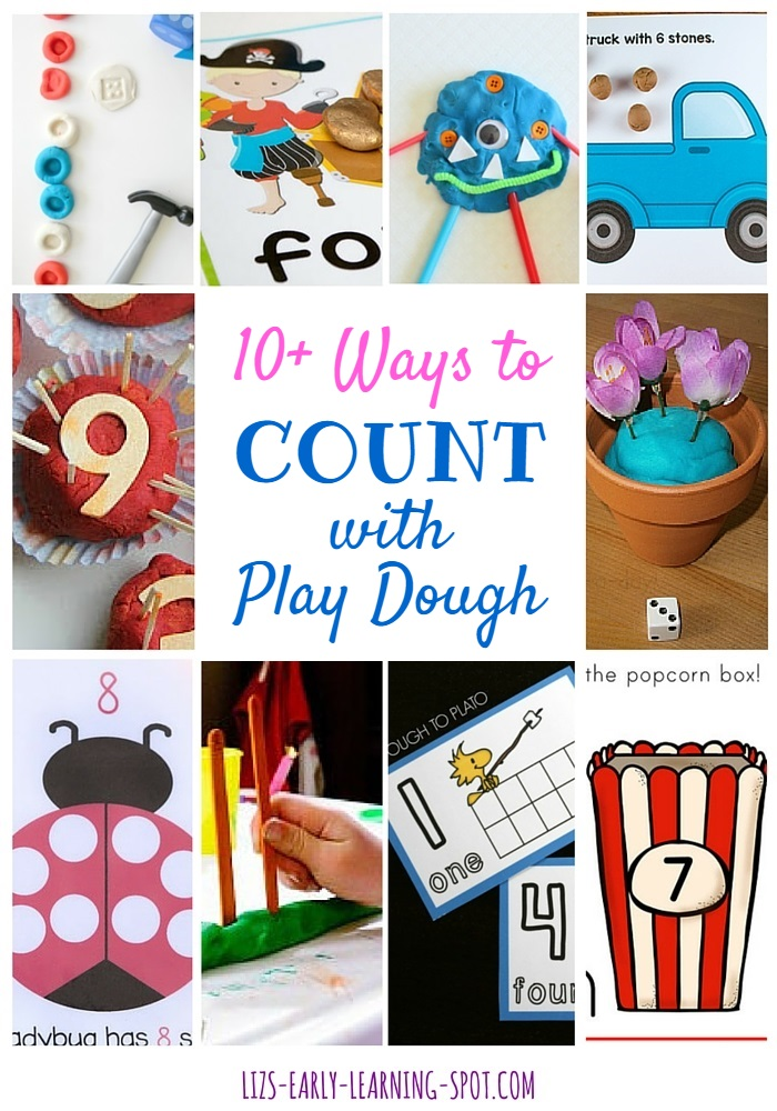 If your kids love to count and love to squish play dough, check out all these links to fantastic counting with play dough ideas!