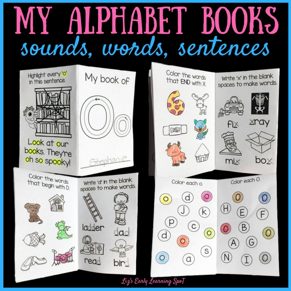 Practice letter recognition, beginning sounds and writing with these alphabet activity books!