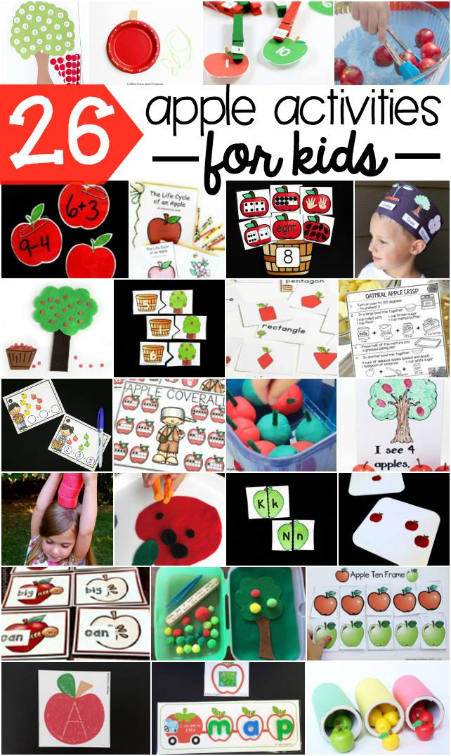 Find links to all these wonderful apple activities for literacy, math and just plain fun!