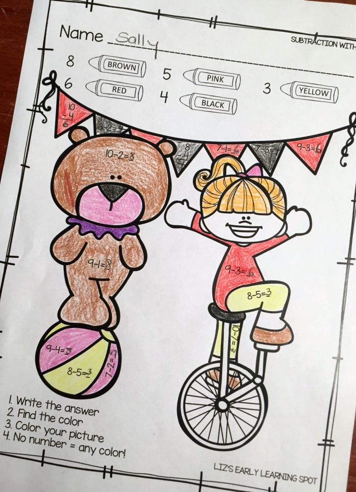 These free color by number pages are a fun way to practice math skills.