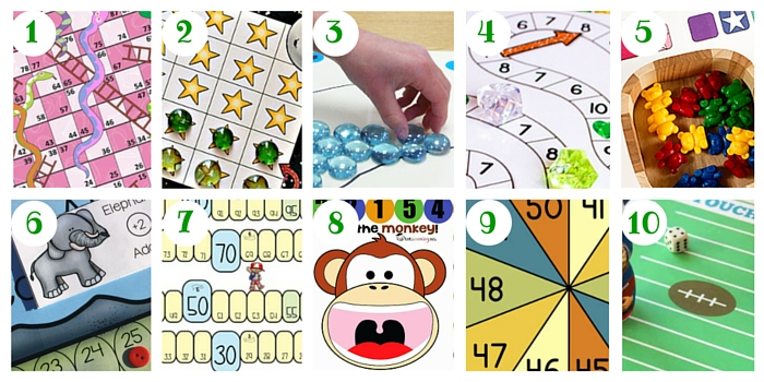 Do your kids love to count using board games? You'll find heaps of free downloads here!